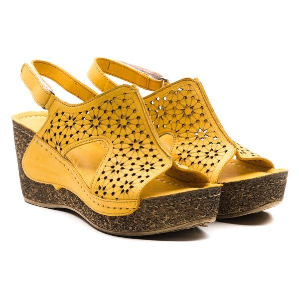Amelia Kadın Dolgu Topuk Sandalet Sarı