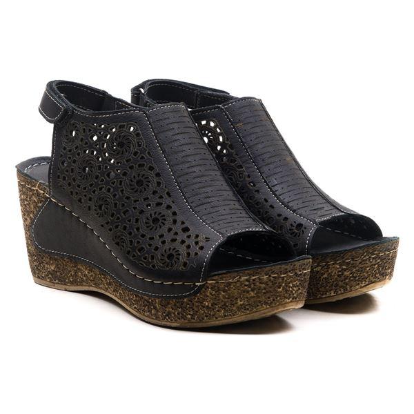 Linda Kadın Dolgu Topuk Sandalet Siyah