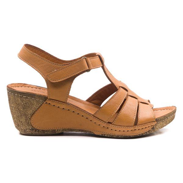 Mary Kadın Dolgu Topuk Sandalet Taba