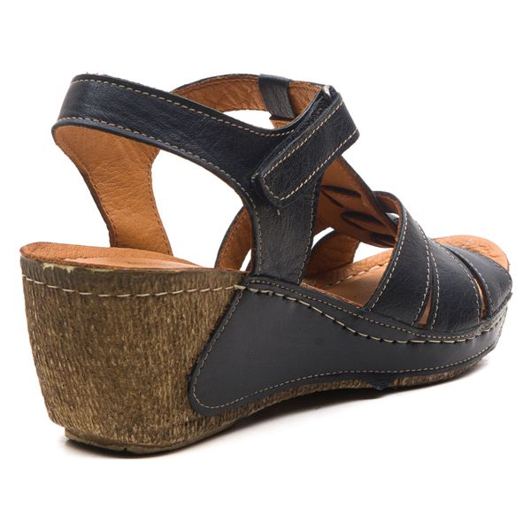 Mary Kadın Dolgu Topuk Sandalet Siyah
