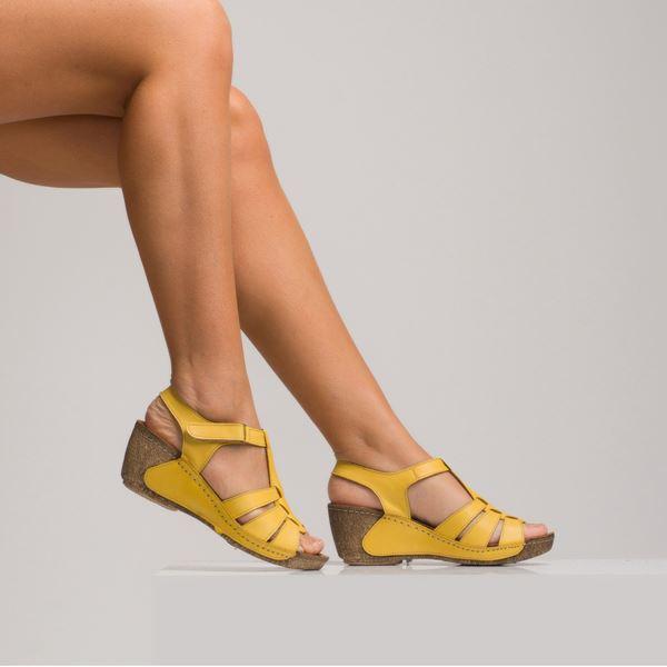 Mary Kadın Dolgu Topuk Sandalet Sarı