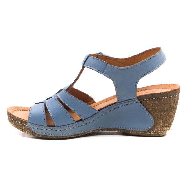 Mary Kadın Dolgu Topuk Sandalet Mavi