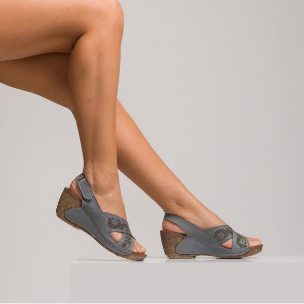Noah Kadın Dolgu Topuk Sandalet Gri