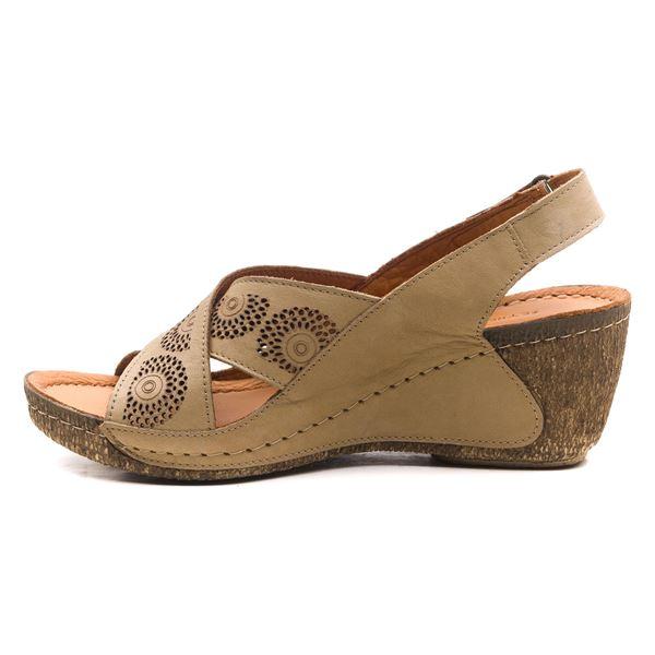 Noah Kadın Dolgu Topuk Sandalet Kum