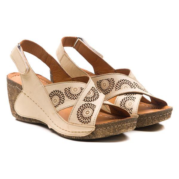 Noah Kadın Dolgu Topuk Sandalet Bej