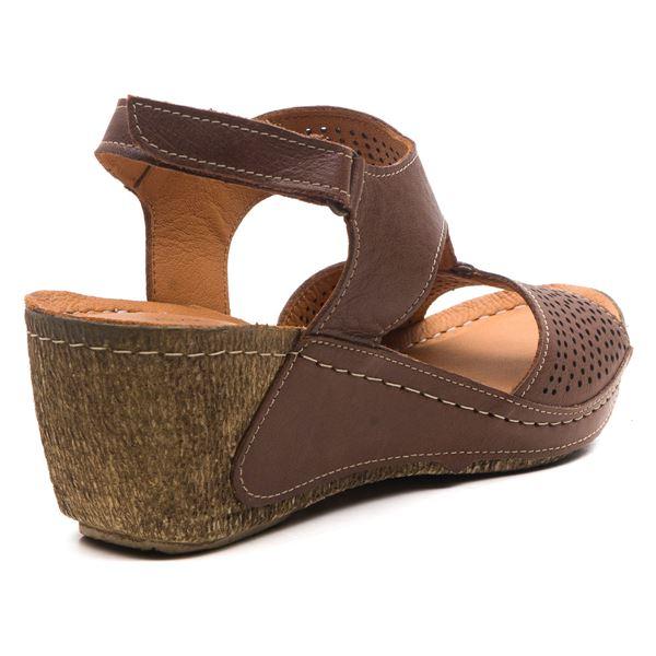 Joe Kadın Dolgu Topuk Sandalet Kahve