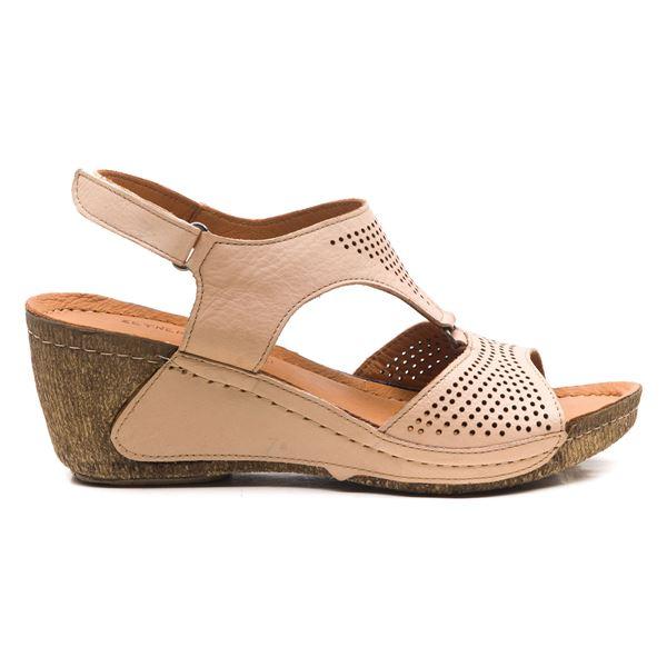 Joe Kadın Dolgu Topuk Sandalet Pudra