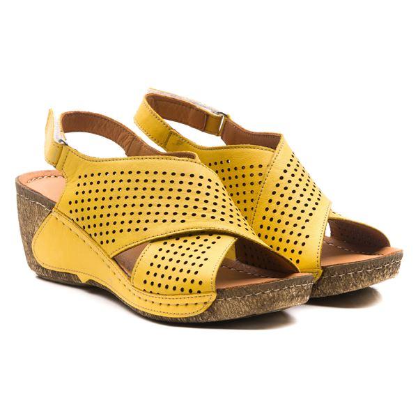 Harry Kadın Dolgu Topuk Sandalet Sarı