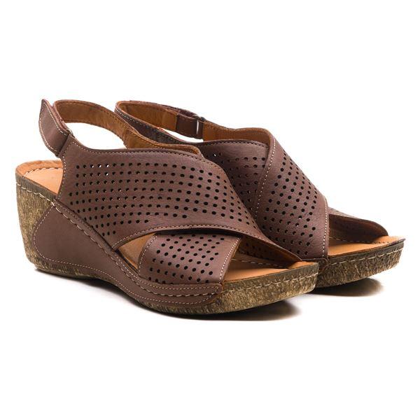 Harry Kadın Dolgu Topuk Sandalet Kahve