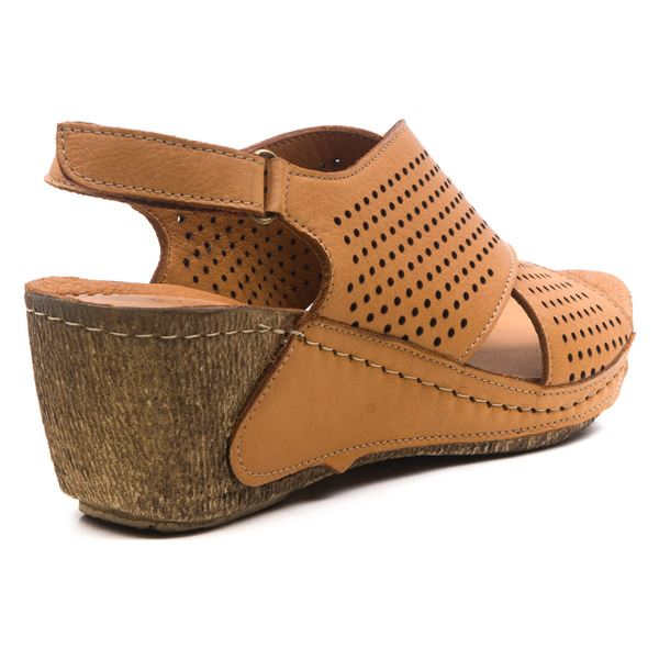 Harry Kadın Dolgu Topuk Sandalet Taba