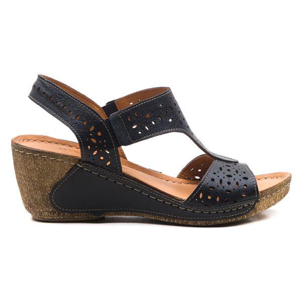 Mia Kadın Dolgu Topuk Sandalet Siyah