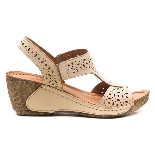 Mia Kadın Dolgu Topuk Sandalet Bej