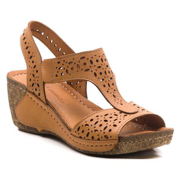 Mia Kadın Dolgu Topuk Sandalet Taba