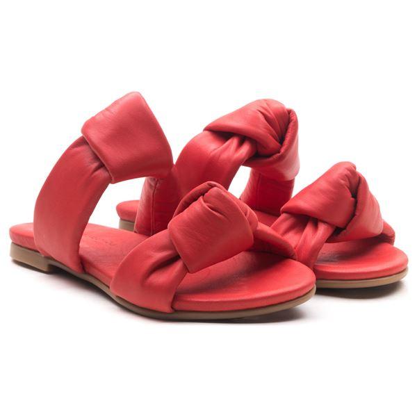 Annika Kadın Deri Terlik Kırmızı