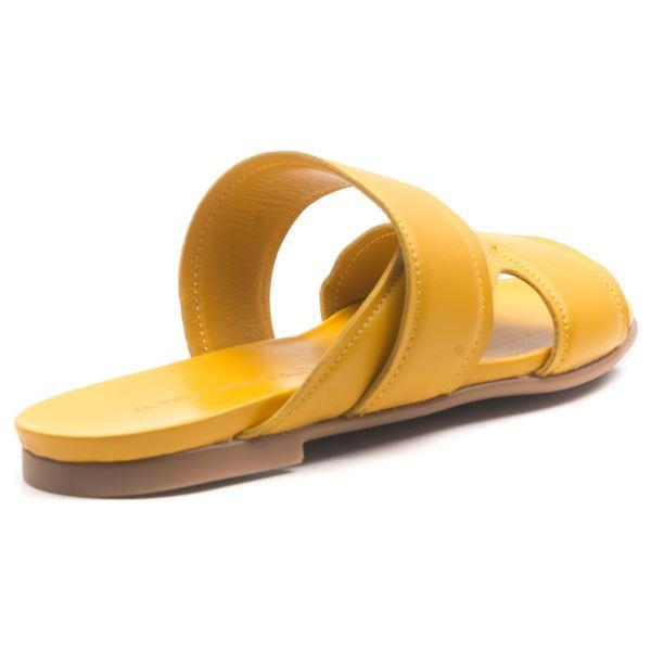 Amarion Kadın Deri Terlik Sarı