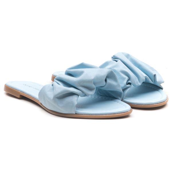 Tralle Kadın Deri Terlik Bebe Mavi