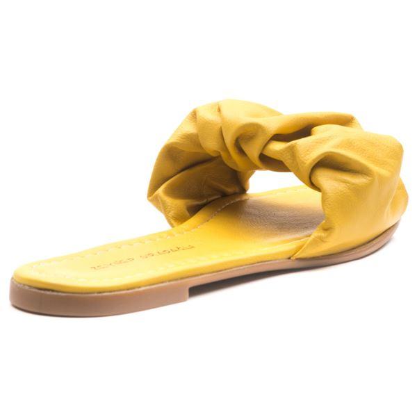 Tralle Kadın Deri Terlik Sarı