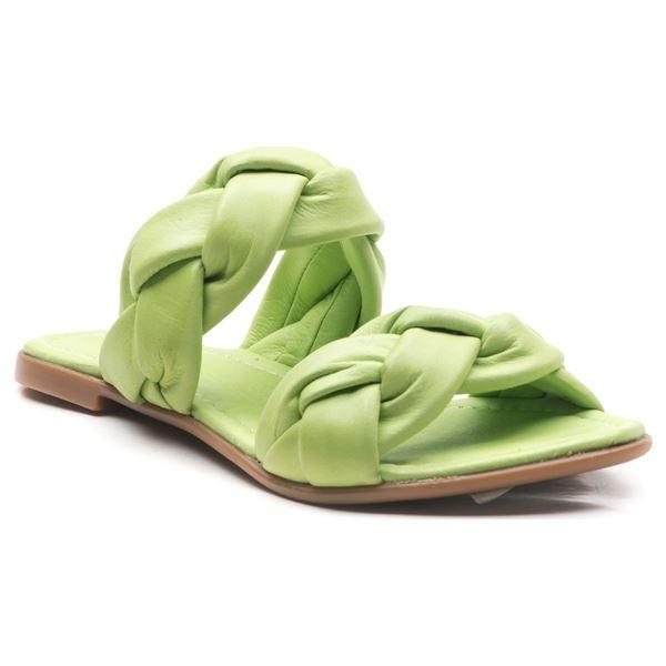 Cadiela Kadın Deri Terlik Fıstık Yeşil