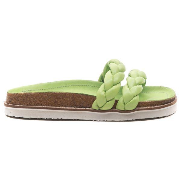 Smerry Kadın Deri Terlik Fıstık Yeşil