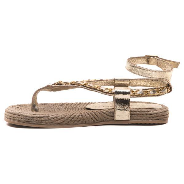 Cloweer Kadın Deri Sandalet Dore