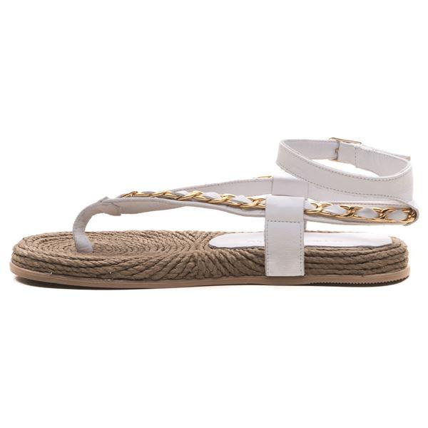 Cloweer Kadın Deri Sandalet Beyaz