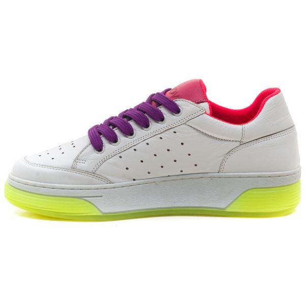 Candyy Kadın Spor Ayakkabı Beyaz Bordo Mor