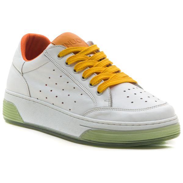 Candyy Kadın Spor Ayakkabı Beyaz Oranj