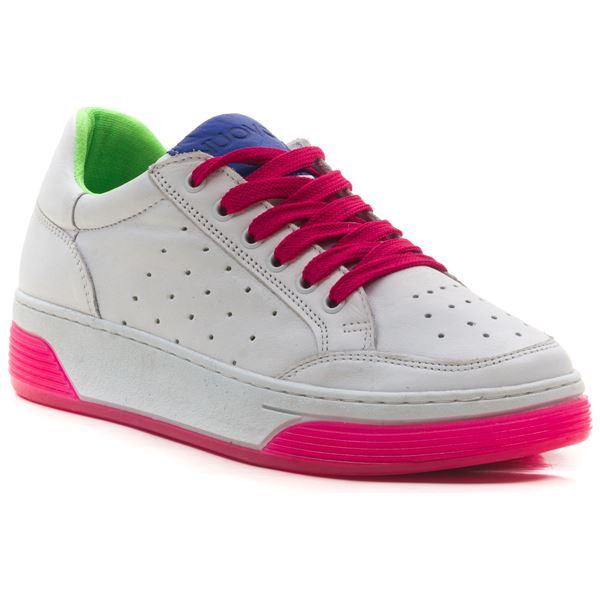 Candyy Kadın Spor Ayakkabı Beyaz Saks Fuşya