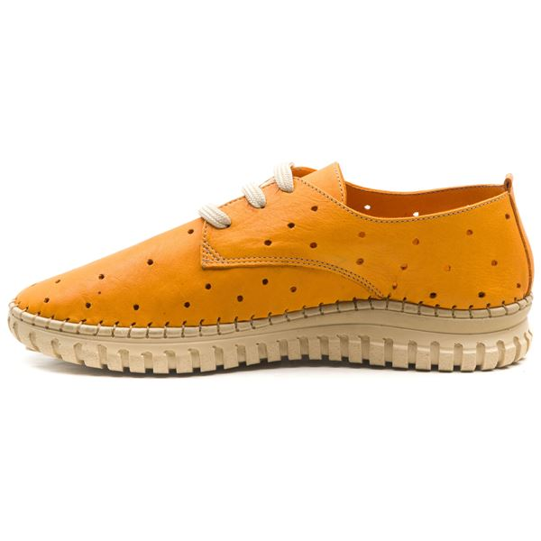 Harisso Kadın Deri Ayakkabı Oranj
