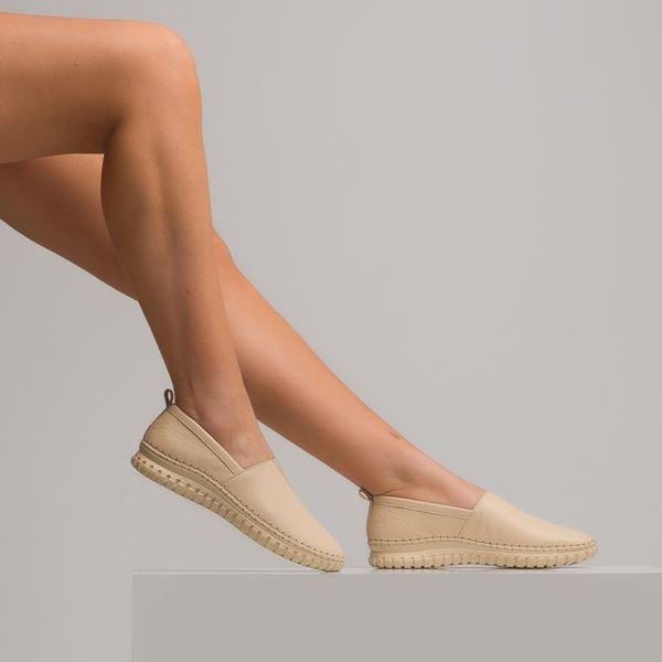 Frozen Kadın Deri Ayakkabı Bej