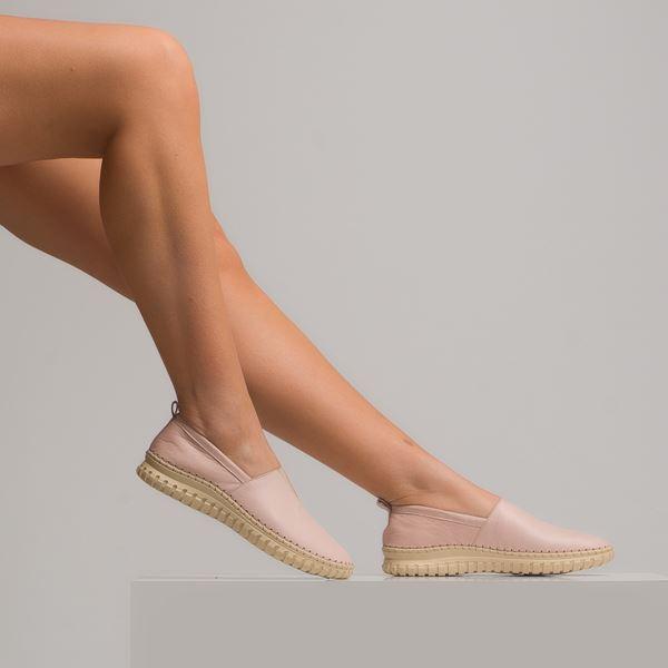 Frozen Kadın Deri Ayakkabı Pudra