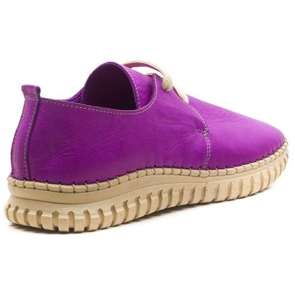 Orivva Kadın Deri Ayakkabı Mor