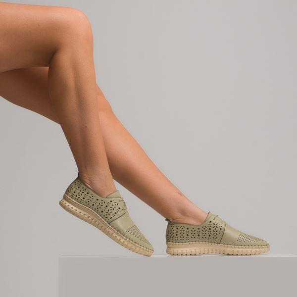 Diesella Kadın Deri Ayakkabı Su Yeşili