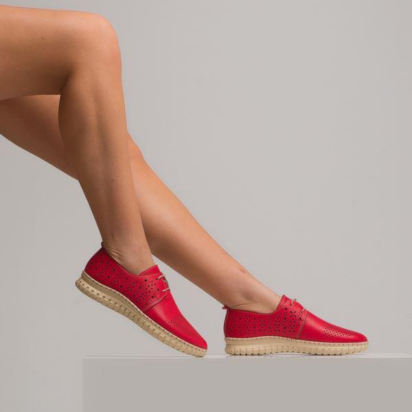 Diesella Kadın Deri Ayakkabı Kırmızı