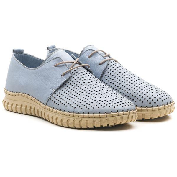 Helena Kadın Deri Ayakkabı Bebe Mavi