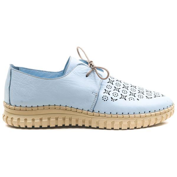 Joely Kadın Deri Ayakkabı Bebe Mavi