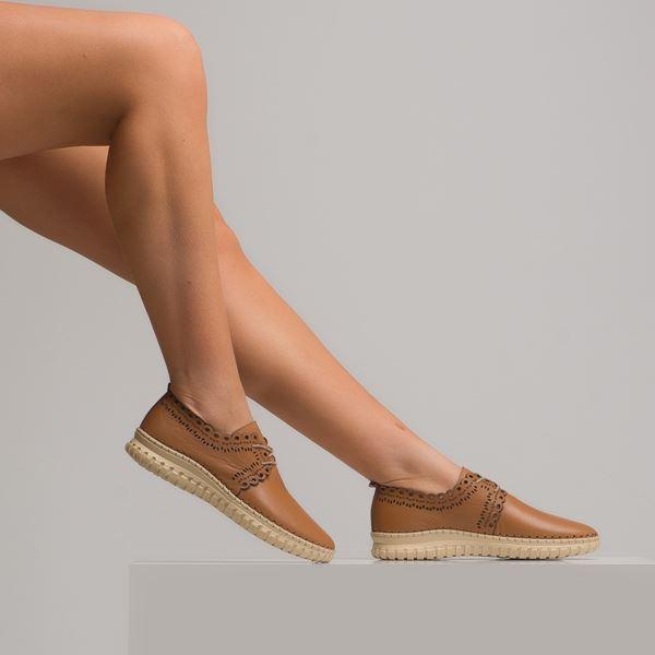Clematis Kadın Deri Ayakkabı Taba