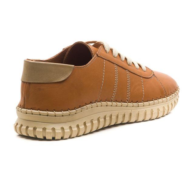 Cherry Kadın Deri Ayakkabı Taba Kum