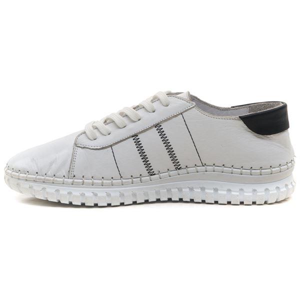Cherry Kadın Deri Ayakkabı Beyaz Siyah