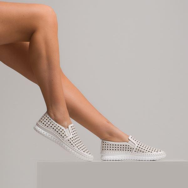 Perseo Kadın Deri Ayakkabı Beyaz