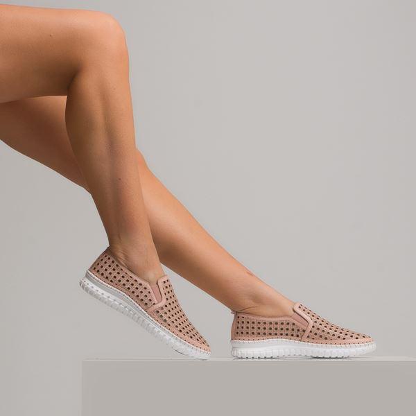 Perseo Kadın Deri Ayakkabı Pudra