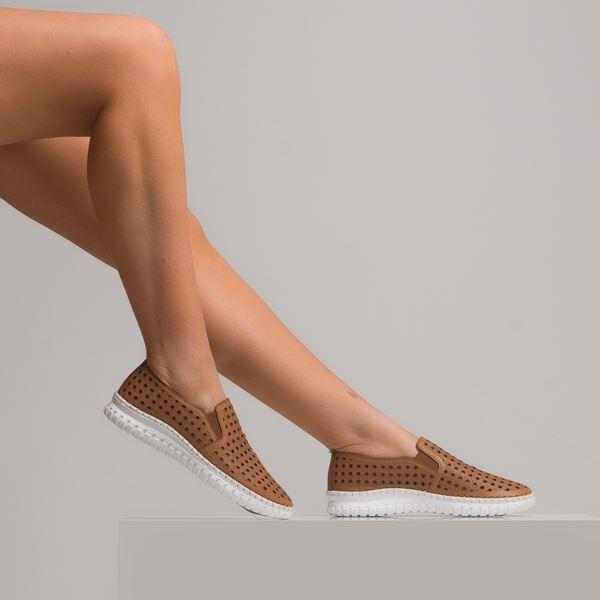 Perseo Kadın Deri Ayakkabı Taba