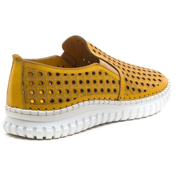 Perseo Kadın Deri Ayakkabı Sarı