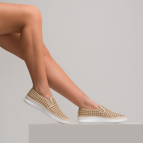 Perseo Kadın Deri Ayakkabı Bej
