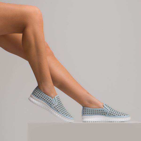 Perseo Kadın Deri Ayakkabı Bebe Mavi