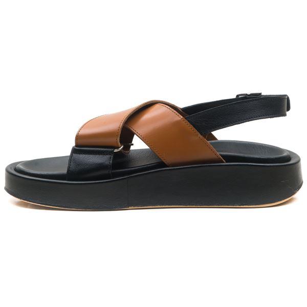Dıegor Kadın Sandalet Siyah Taba