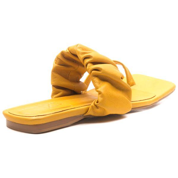 Daisy Kadın Deri Terlik Sarı