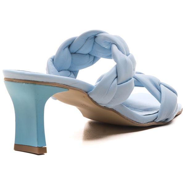 Becca Kadın Deri Terlik Bebe Mavi