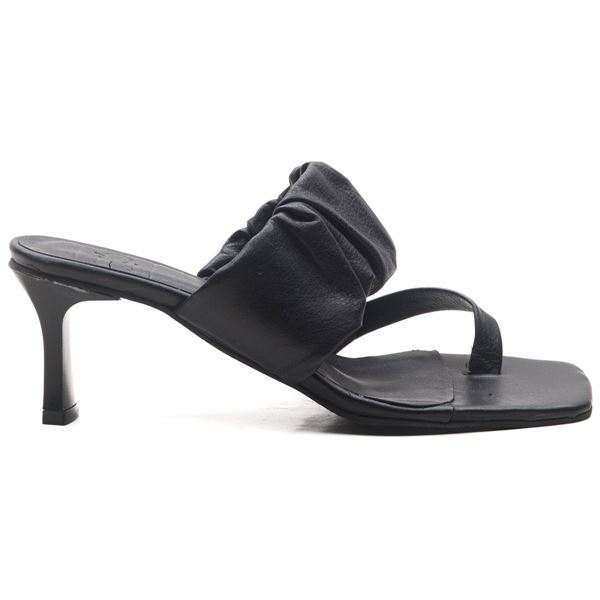 Alfrida Kadın Deri Terlik Siyah