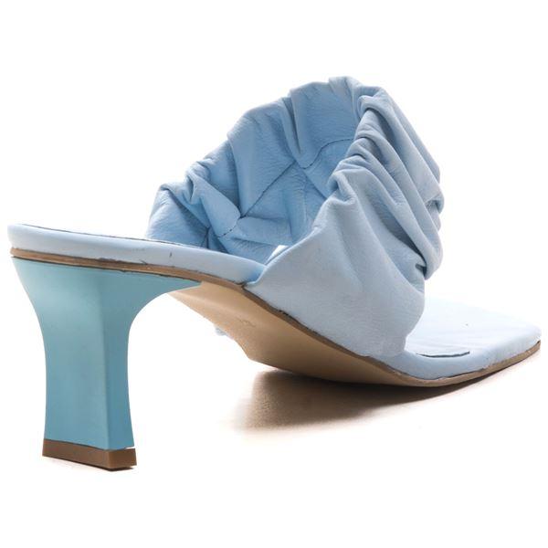 Alfrida Kadın Deri Terlik Bebe Mavi